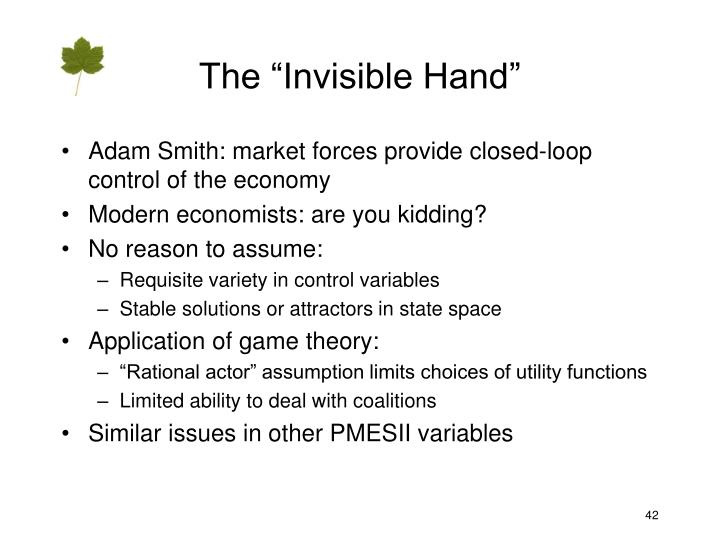 """The """"Invisible Hand"""""""