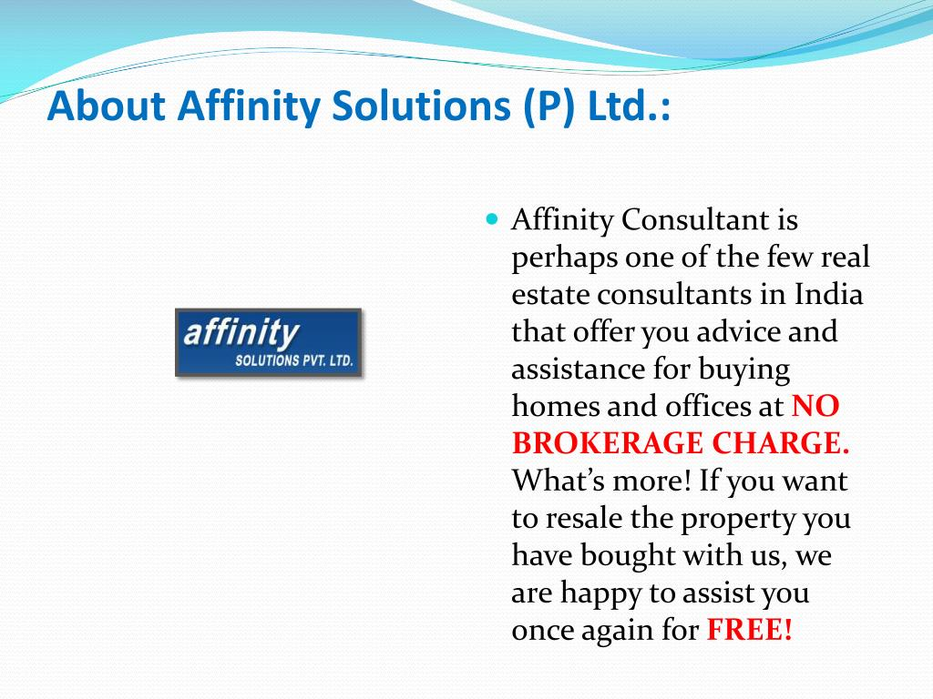 About Affinity Solutions (P) Ltd.: