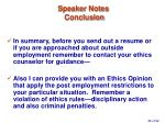 speaker notes conclusion