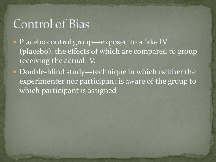 Control of Bias