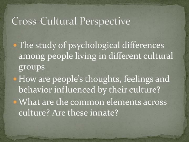 Cross-Cultural Perspective