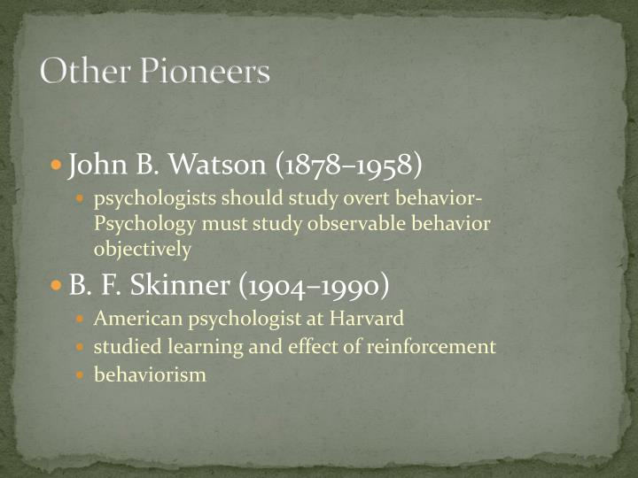 Other Pioneers