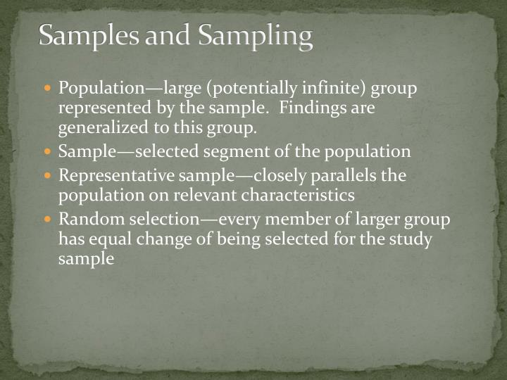 Samples and Sampling