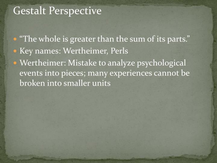 Gestalt Perspective