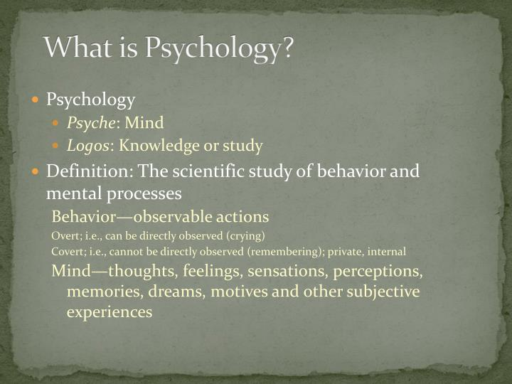 What is psychology