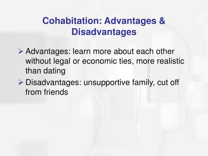 Cohabitation: Advantages & Disadvantages