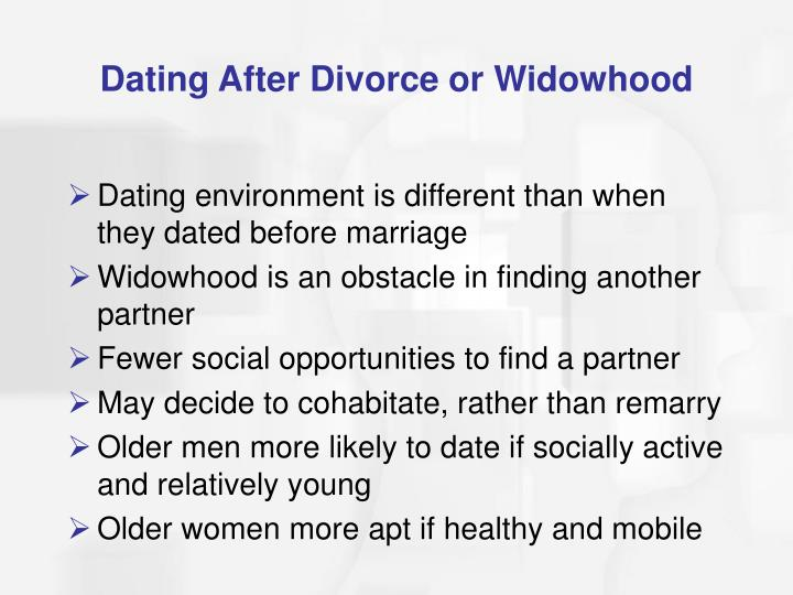 Dating After Divorce or Widowhood