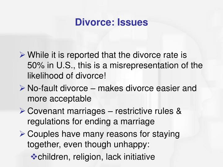 Divorce: Issues