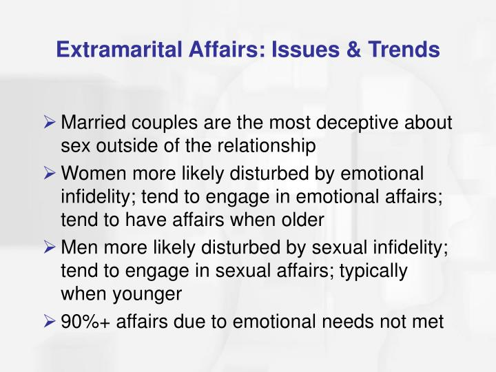 Extramarital Affairs: Issues & Trends