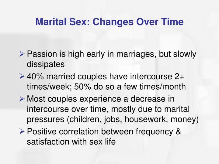 Marital Sex: Changes Over Time