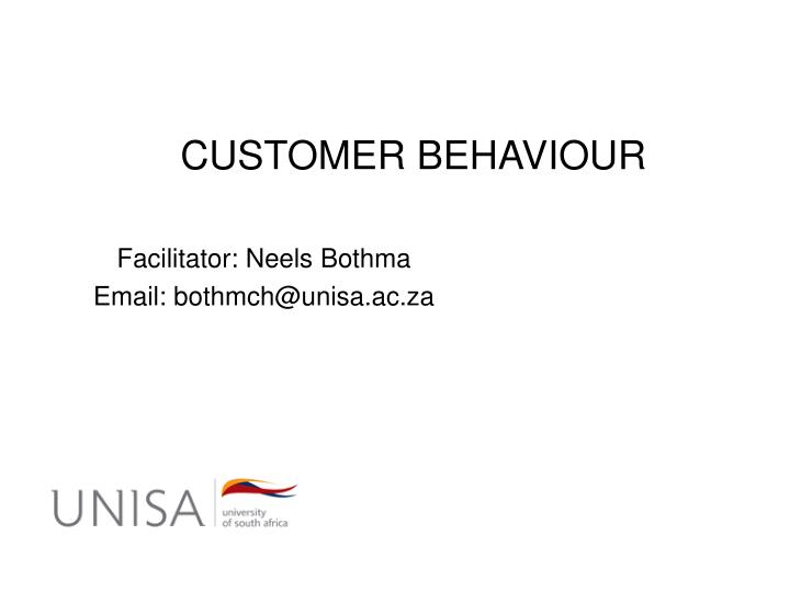 customer behaviour n.