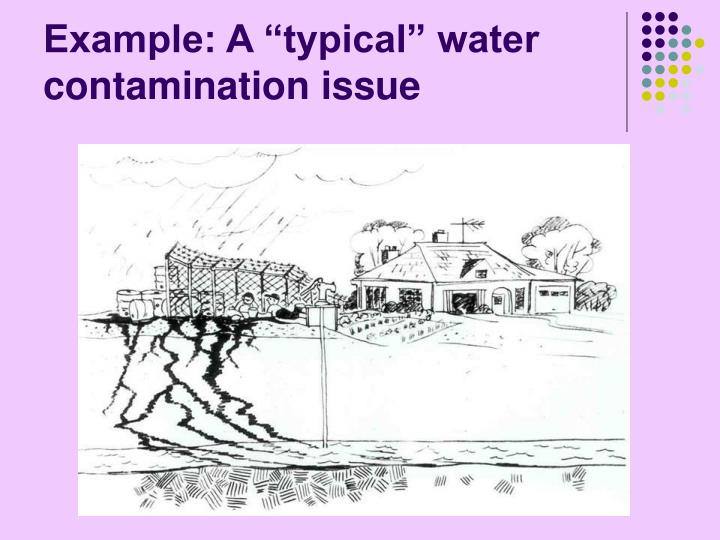 "Example: A ""typical"" water contamination issue"