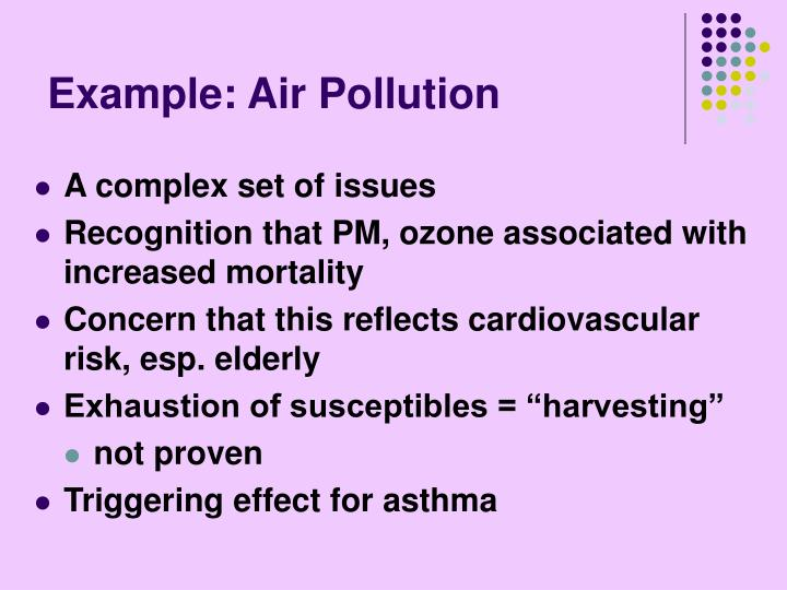 Example: Air Pollution