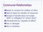 communal relationships