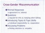 cross gender miscommunication