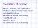 foundations of intimacy