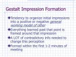 gestalt impression formation