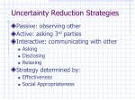 uncertainty reduction strategies