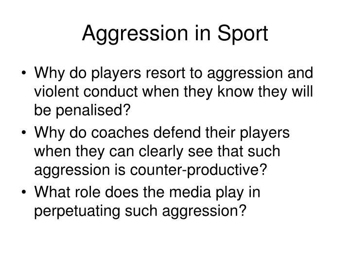 Aggression in sport2