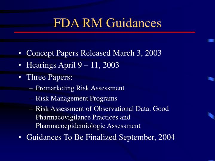 FDA RM Guidances