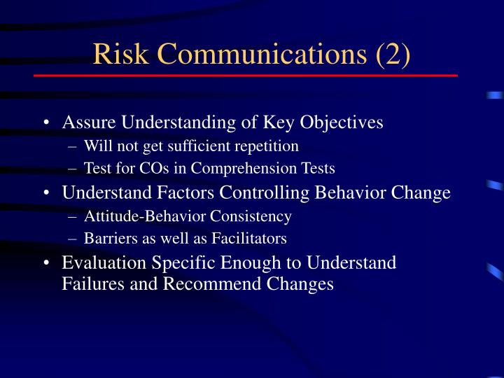 Risk Communications (2)