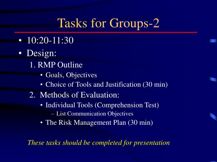 Tasks for Groups-2