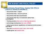 the budget and fiscal policy2