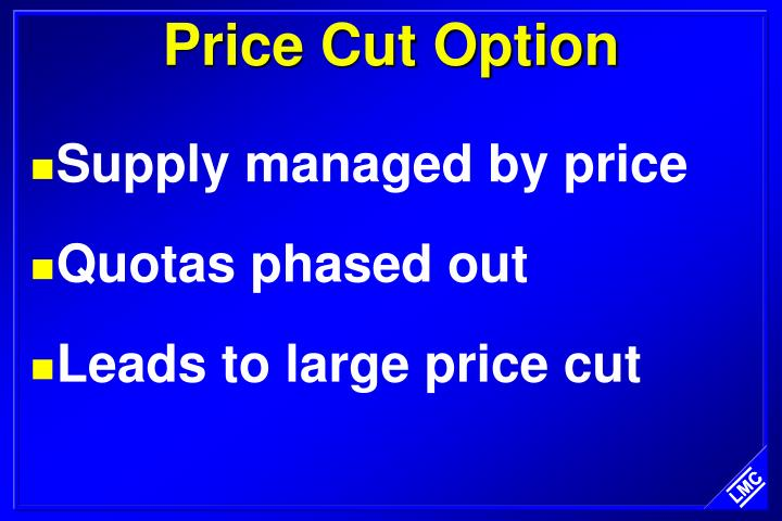 Price Cut Option