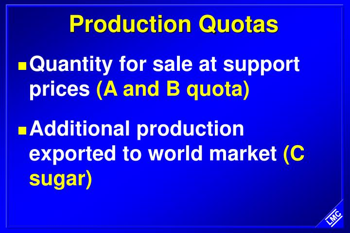 Production Quotas