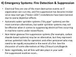 4 emergency systems fire detection suppression