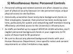 5 miscellaneous items personnel controls
