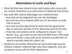 alternatives to locks and keys