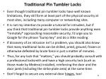 traditional pin tumbler locks