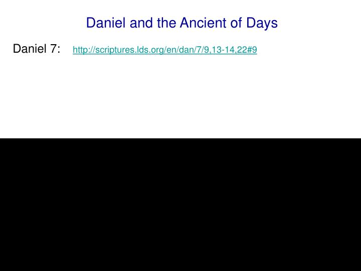 Daniel and the Ancient of Days