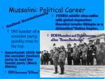 mussolini political career