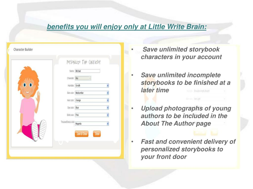 benefits you will enjoy only at Little Write Brain: