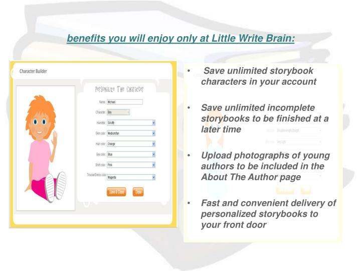Benefits you will enjoy only at little write brain