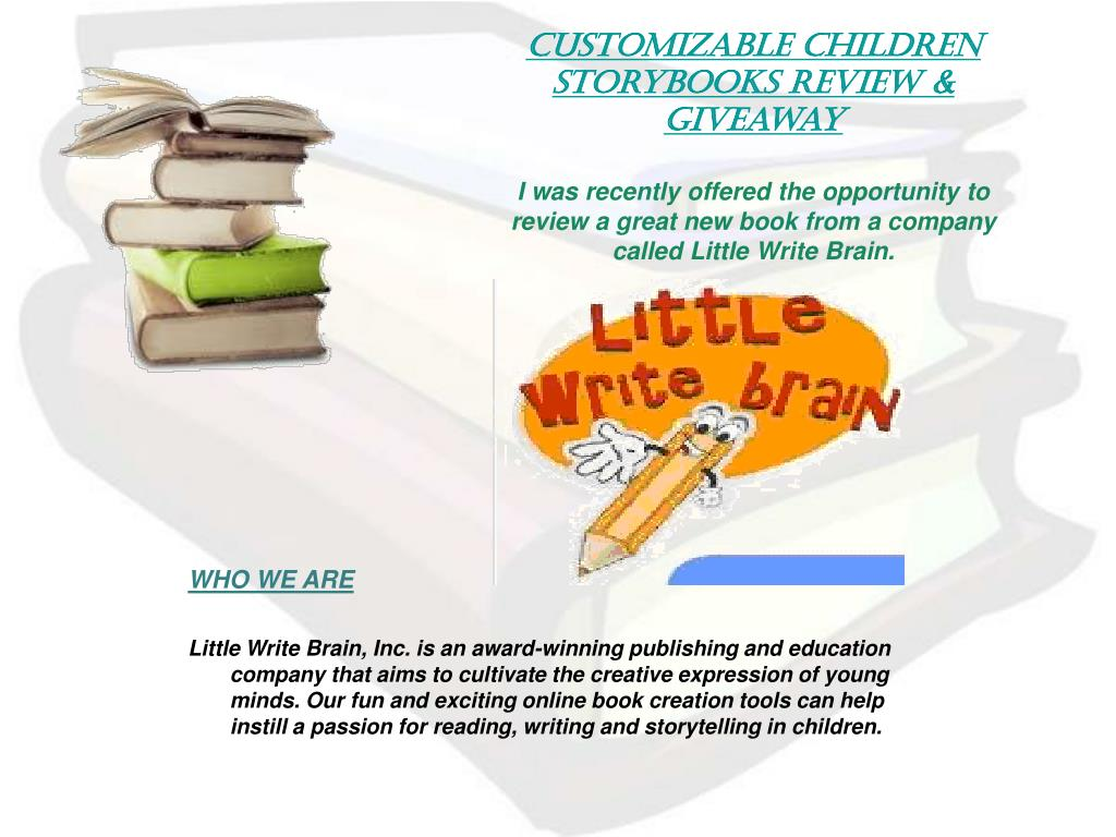 Customizable Children Storybooks Review & Giveaway