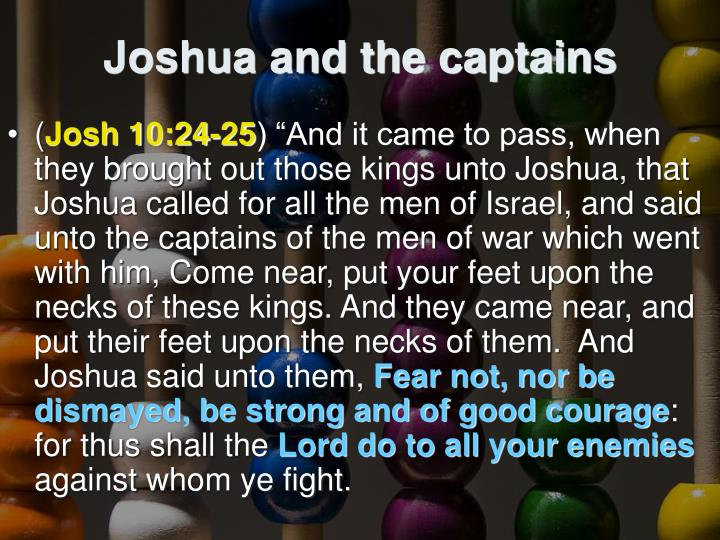 Joshua and the captains
