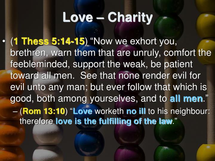 Love – Charity