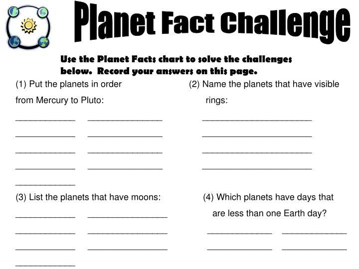 Planet Fact Challenge
