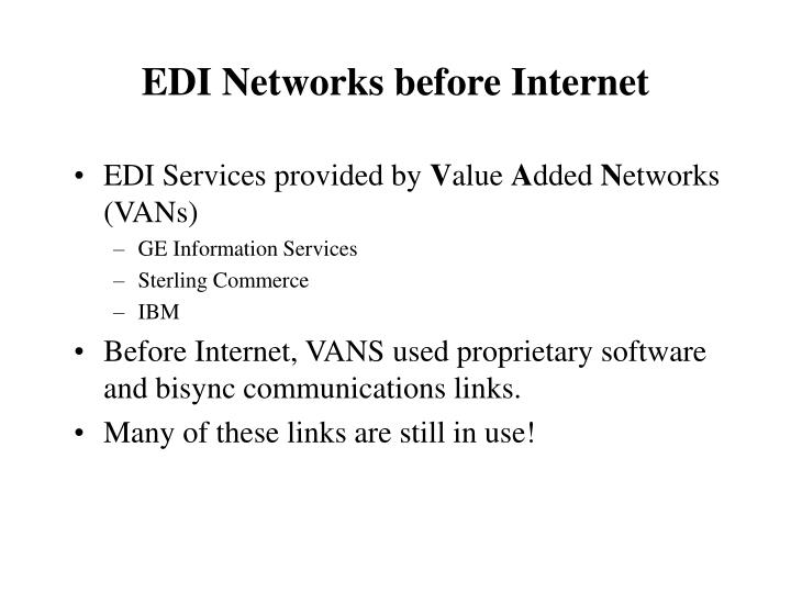 EDI Services provided by