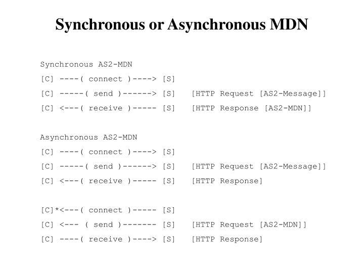 Synchronous or Asynchronous MDN