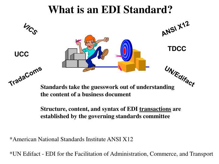What is an EDI Standard?