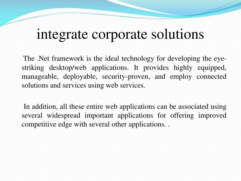 integrate corporate solutions