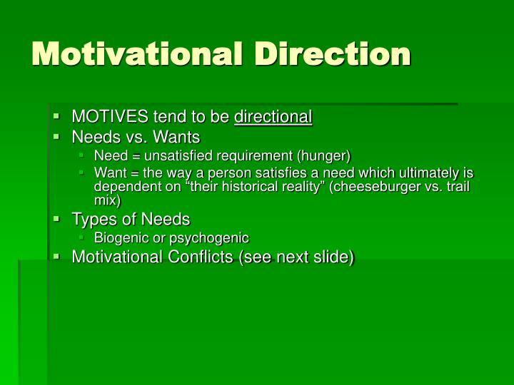 Motivational Direction