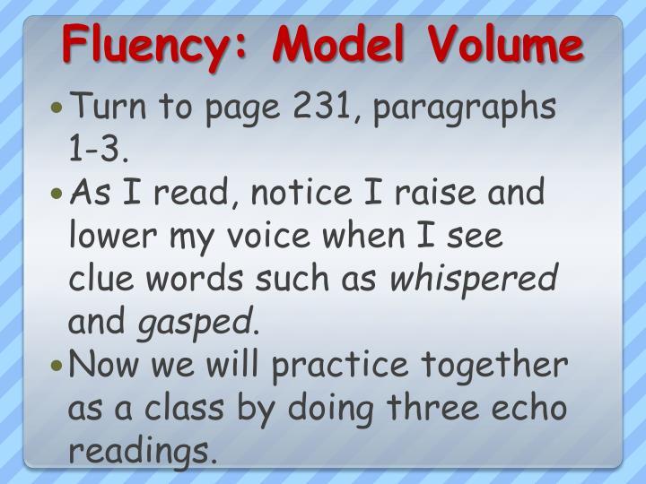 Fluency: Model Volume