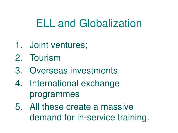ELL and Globalization