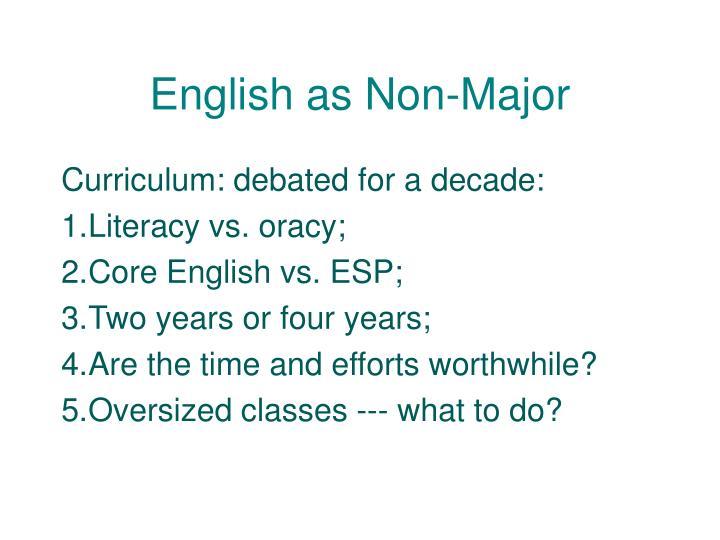 English as Non-Major