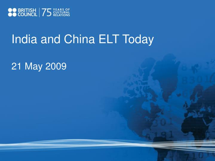 India and China ELT Today